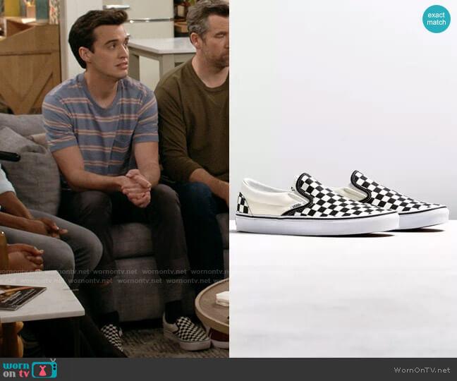 Vans Core Slip-On Sneaker  worn by Freddie Raine (Joey Bragg) on Call Your Mother