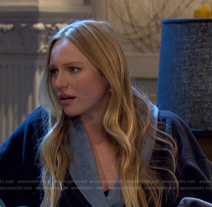 Abigail's black and grey robe on Days of our Lives