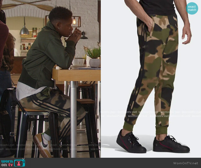 Camo SweatPants by Adidas worn by Tamia Cooper (Bre Z) on All American