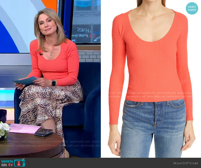 Brendan Long Sleeve Top by A.L.C. worn by Amy Robach  on Good Morning America
