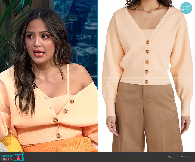 Peters II Cardigan by A.L.C. worn by Erin Lim  on E! News