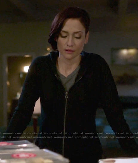 Alex's black hoodie on Supergirl
