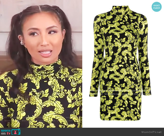 Delora Turtleneck Mini-dress by Alice + Olivia worn by Jeannie Mai  on The Real