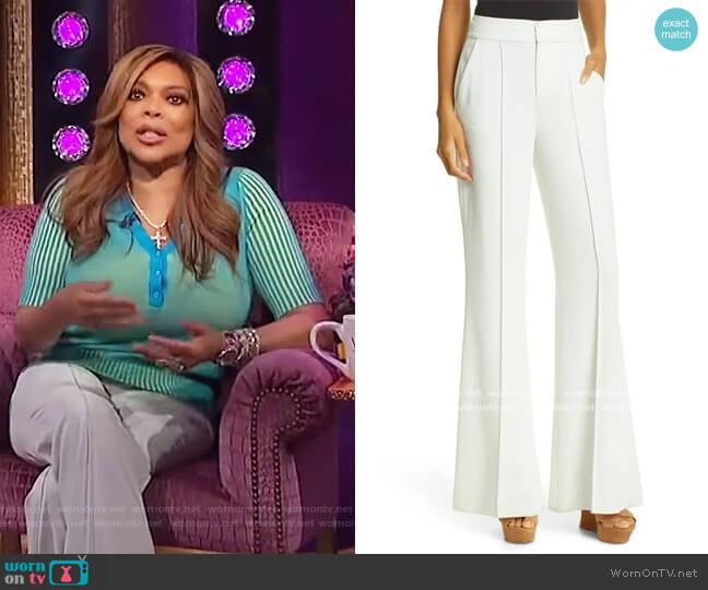 Dylan Bootcut Pants by Alice + Olivia worn by Wendy Williams  on The Wendy Williams Show