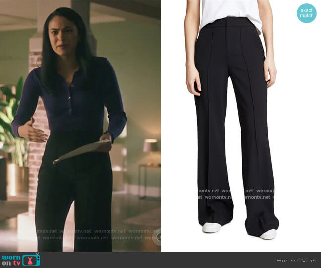 Dylan High Waisted Leg Pants by Alice + Olivia worn by Veronica Lodge (Camila Mendes) on Riverdale