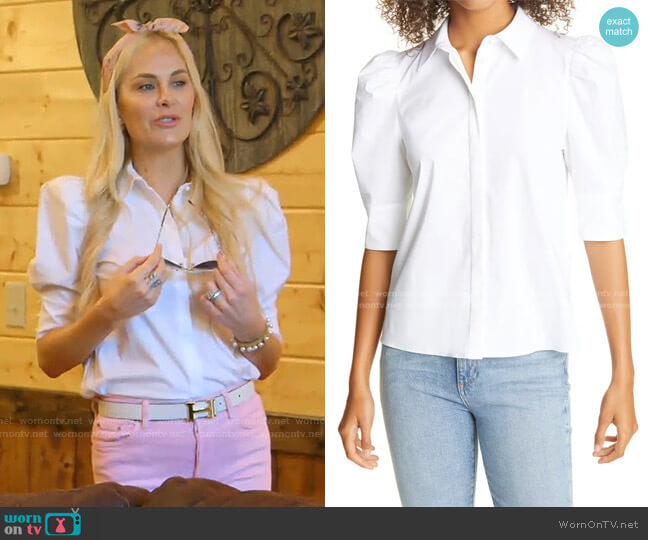 Willa Puff Sleeve Blouse by Alice + Olivia worn by Kameron Westcott  on The Real Housewives of Dallas