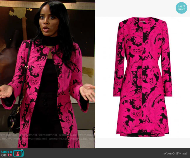 Alice + Olivia Liza Coat worn by Imani on The Young and the Restless
