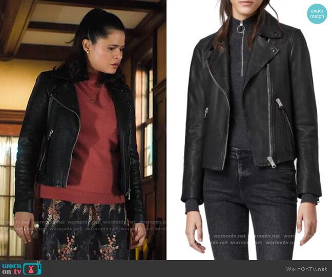 All Saints Dalby Biker Jacket worn by Mel Vera (Melonie Diaz) on Charmed