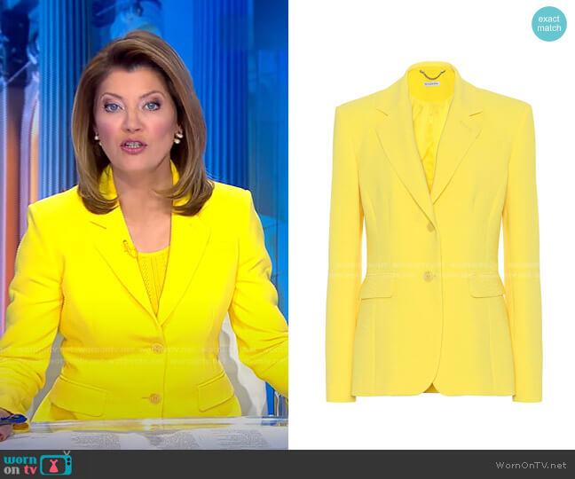 Fenice Blazer by Altuzarra worn by Norah O'Donnell  on CBS Evening News
