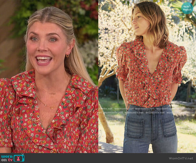 Henri Top by Doen worn by Amanda Kloots  on The Talk