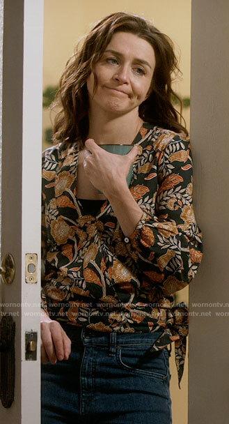 Amelia's floral wrap top on Greys Anatomy