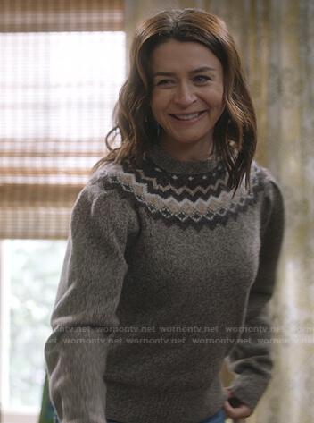 Amelia's fair isle sweater on Greys Anatomy