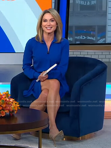 Amy's blue shirtdress on Good Morning America