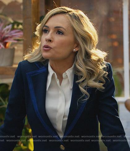 Amy's navy contrast trim blazer  on All Rise