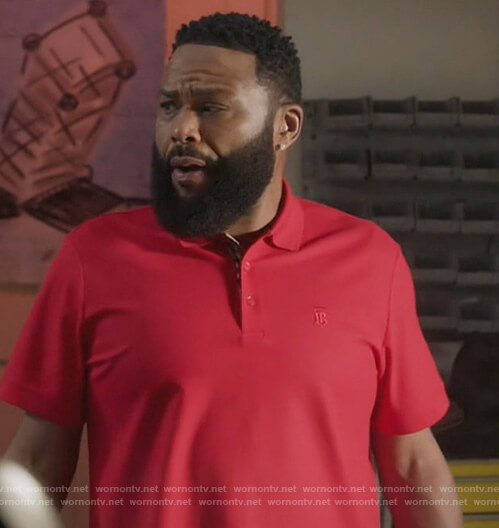 Andre's red polo shirt on Black-ish