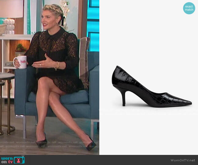 Perry Pumps by Anine Bing worn by Amanda Kloots  on The Talk