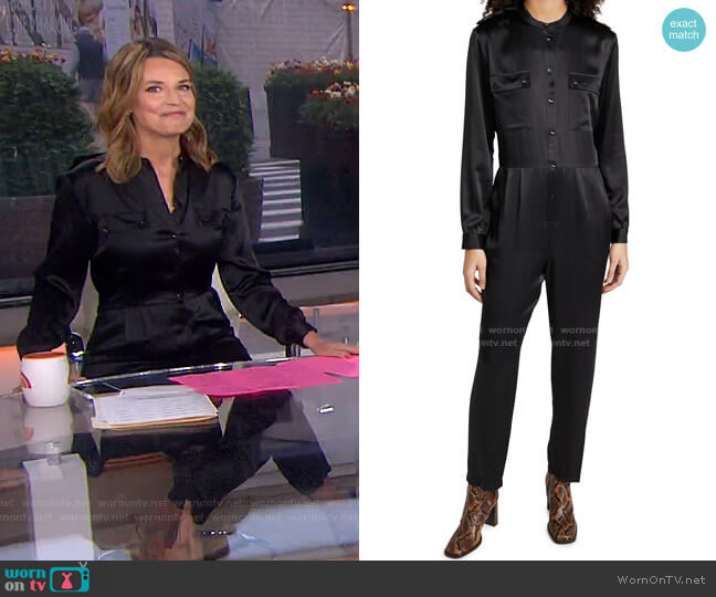 Rosalie Jumpsuit by Anine Bing worn by Savannah Guthrie  on Today