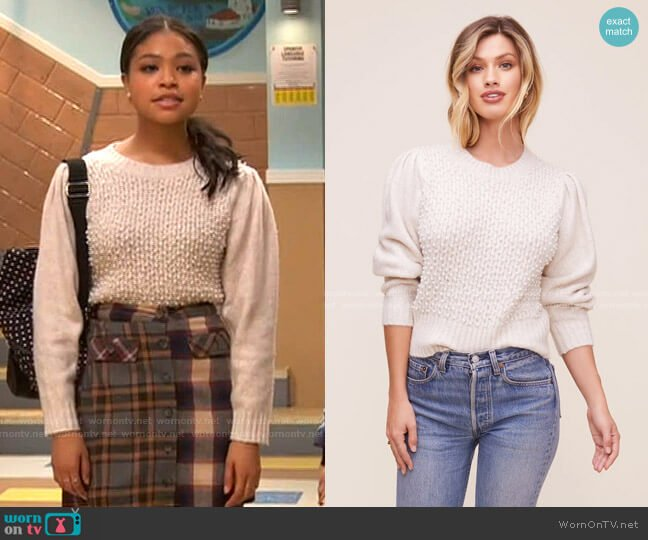Cindy Sweater by ASTR the Label worn by Nia Baxter (Navia Robinson) on Ravens Home