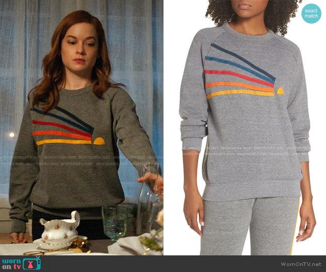 Daydream Sweatshirt by Aviator Nation worn by Zoey Clarke (Jane Levy) on Zoeys Extraordinary Playlist
