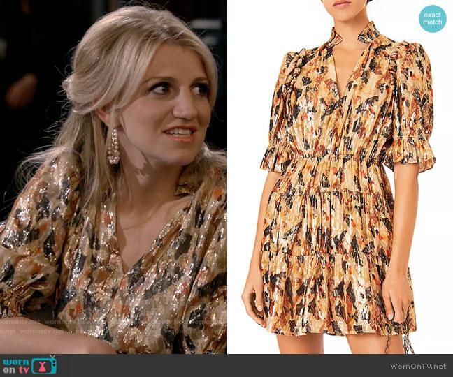 ba&sh Gloria Dress worn by Gina Dabrowski (Annaleigh Ashford) on B Positive