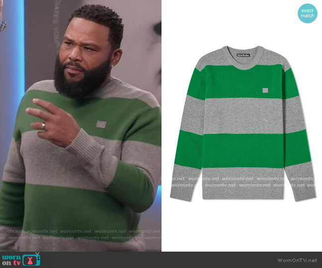 Nimah Block Stripe Sweater by Acne Studios worn by Andre Johnson (Anthony Anderson) on Blackish