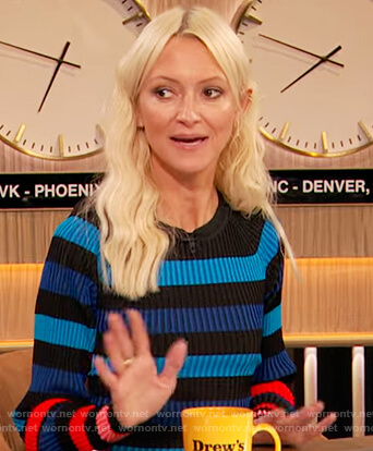 Zanna Roberts stripe ribbed dress on The Drew Barrymore Show