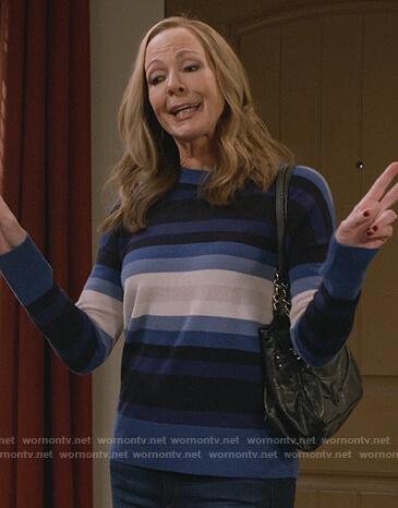 Bonnie's blue striped sweater on Mom
