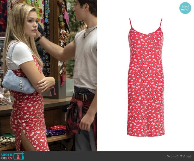 Boohoo Ditsy Floral Midi Slip Dress worn by Kate Wallis (Olivia Holt) on Cruel Summer