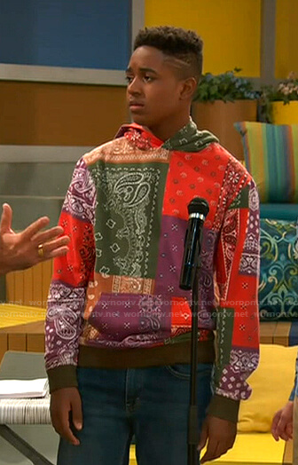 Booker's bandana print hoodie on Ravens Home