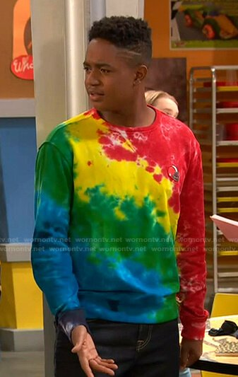 Booker's tie dye sweatshirt on Ravens Home
