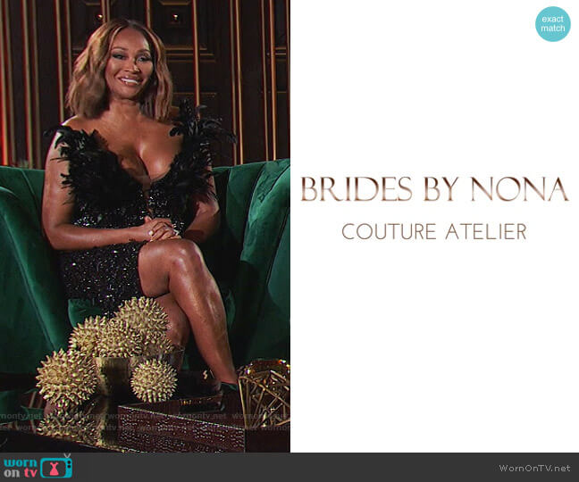 Custom Dress by Brides by Nona worn by Cynthia Bailey  on The Real Housewives of Atlanta