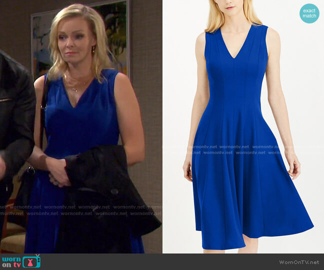 Fit & Flare Midi Dress by Calvin Klein worn by Belle Brady (Martha Madison) on Days of our Lives
