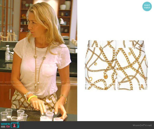 Chain Print Shorts by Michael Kors worn by Kary Brittingham  on The Real Housewives of Dallas