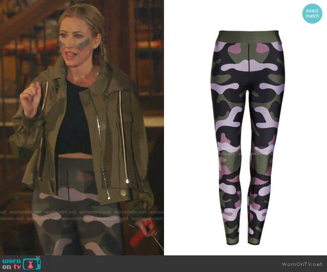 Camo Leggings by Cor designed by Ultracor worn by Stephanie Hollman  on The Real Housewives of Dallas