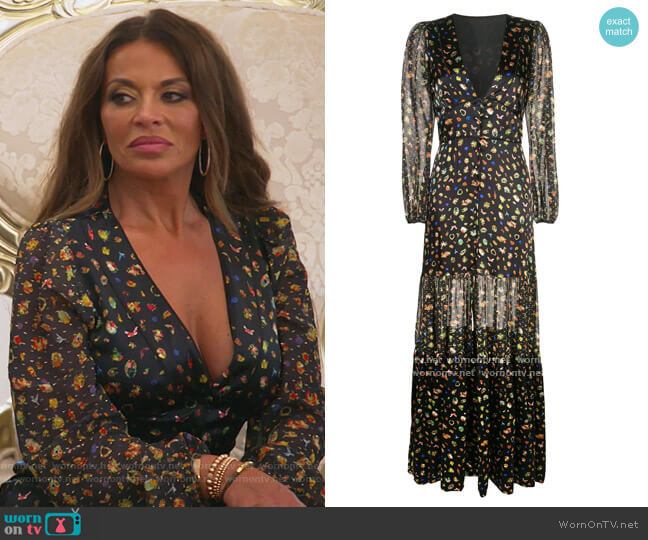 Caroline tiered maxi dress by Cynthia Rowley worn by Dolores Catania  on The Real Housewives of New Jersey