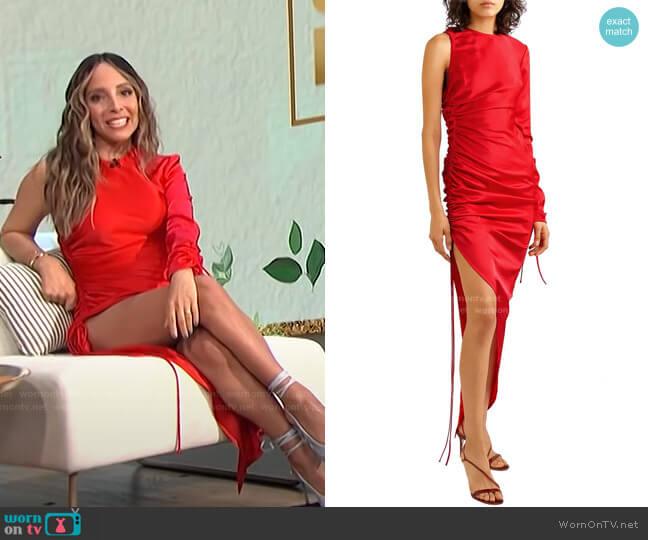 Ruched Asymmetric Dress by David Koma worn by Lilliana Vazquez  on E! News