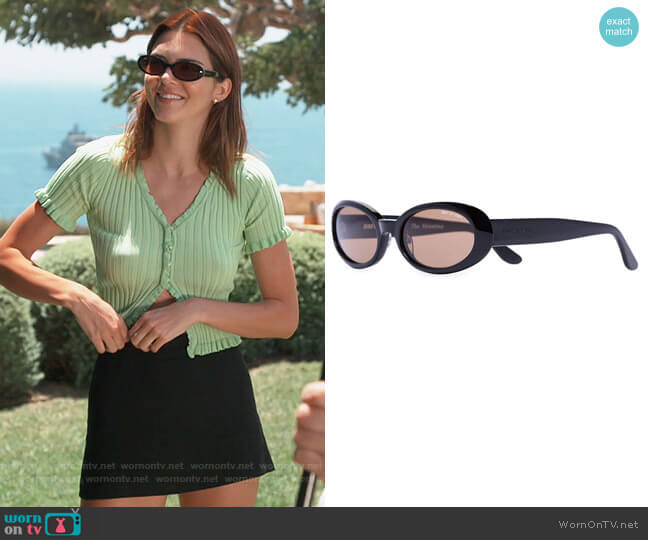 Valentina Oval-Frame Sunglasses by DMY by DMY worn by Kendall Jenner  on Keeping Up with the Kardashians