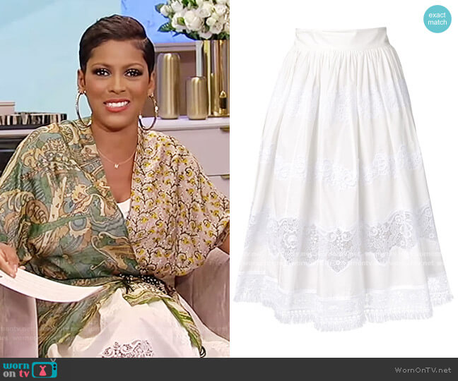 Lace Panel Skirt by Dolce and Gabbana