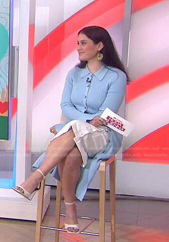 Donna's blue ribbed cardigan dress on Today