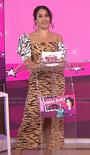 Donna's tiger print midi dress on Today