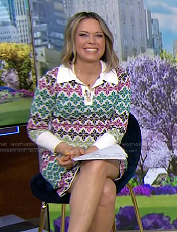 Dylan's floral knit polo dress on Today