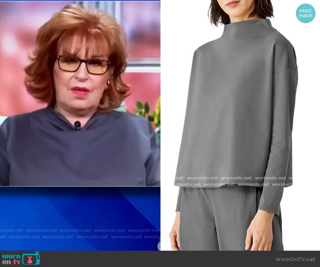 Funnel Neck Top by Eileen Fisher worn by Joy Behar  on The View