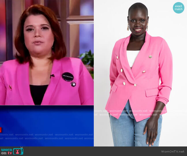 Double Breasted Blazer by Eloquii worn by Ana Navarro  on The View