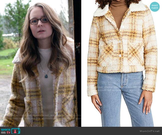 En Saison Plaid Jacket worn by Kara Danvers (Izabela Vidovic) on Supergirl
