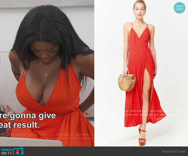 Polka Dot Dress by Forever 21 worn by Kenya Moore  on The Real Housewives of Atlanta