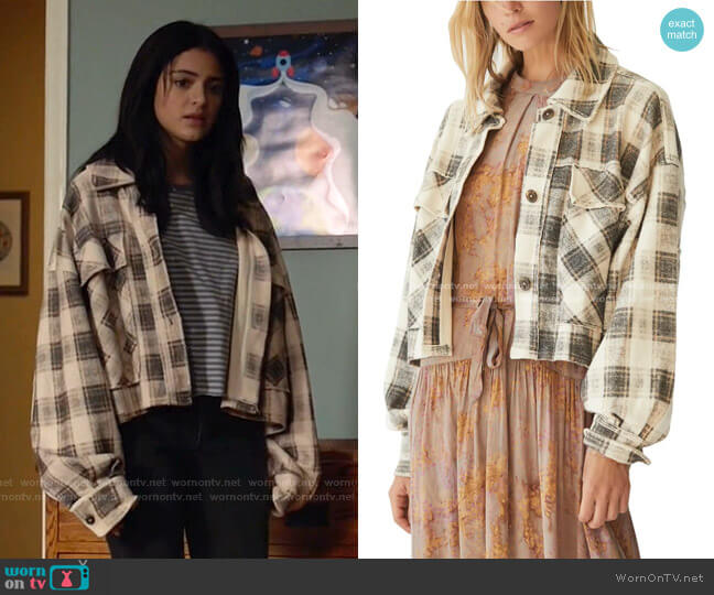 James Plaid Jacket by Free People worn by Olive Stone (Luna Blaise) on Manifest