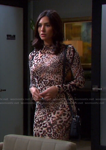 Gabi's leopard mini dress on Days of our Lives