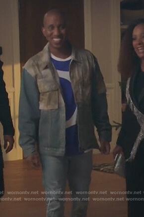 Garry's denim colorblock jacket on Kenan