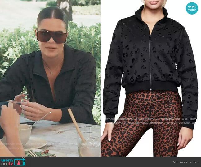 Laser Scuba Crop Jacket by Good American worn by Khloe Kardashian  on Keeping Up with the Kardashians