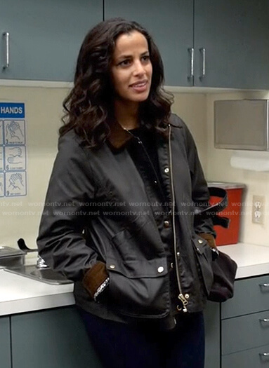 Grace's brown utility jacket on Manifest